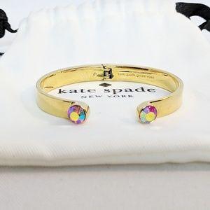 Kate Spade Open Hinged Aurora Borealis Bracelet